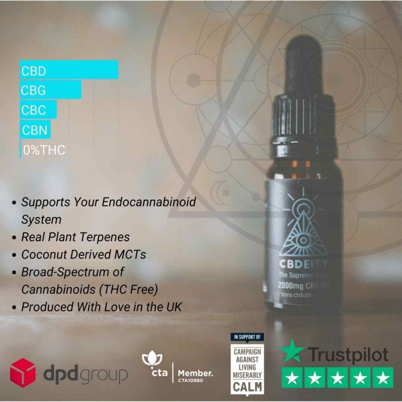 Deity 2000mg cbd oil