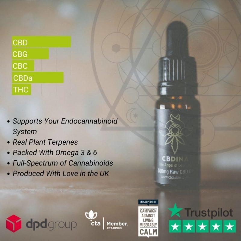 Dina 500mg CBD Oil (5%)